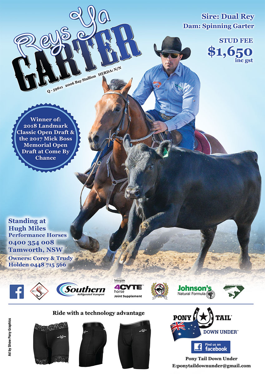Reys Ya Garter 2018 Australian Campdrafting Magazine ad by Show Pony Graphics