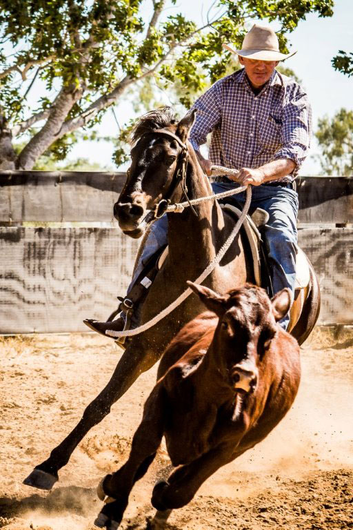 Rob & Bernie running off for the Futurity at Gold City 2016.