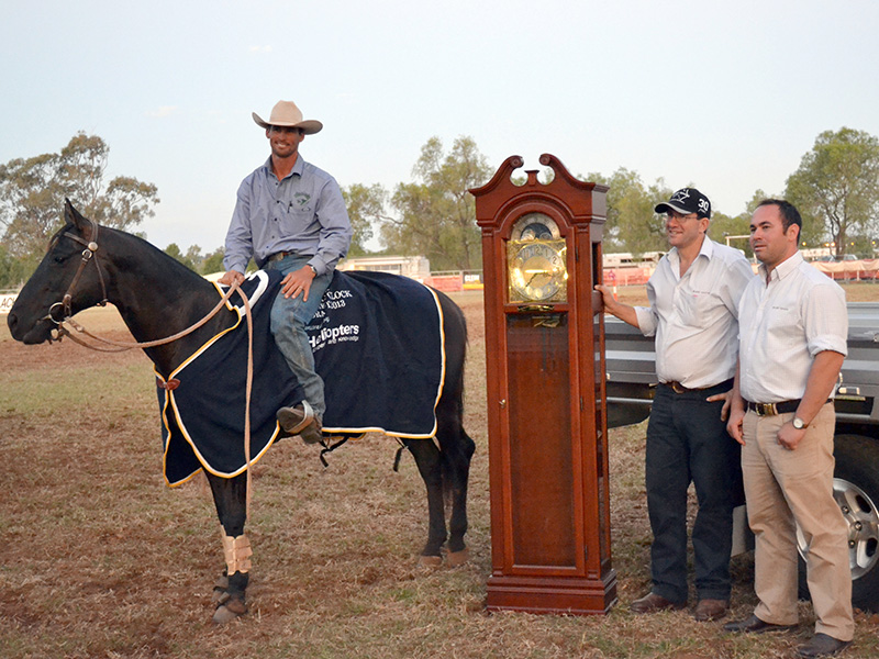 Jon Templeton & Marnies Ace. Chinchilla Grandfather Clock winner 2013.