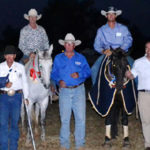 Photo by Belinda Boshammer. 2013 Open placegetters with judge Mark Buttsworth, Chinchilla Campdraft president John Plant & Jason Gray & Moses Abraham of Black Toyota Chinchilla.