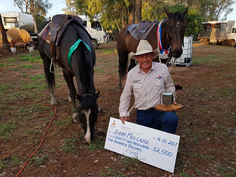 2017 Condamine Bell winner John Mulcahy with TKO & Gest An Acre who placed 3rd.