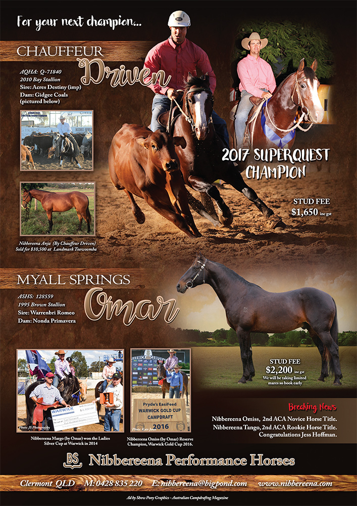 Ad by Show Pony Graphics for Australian Campdrafting Magazine 2017