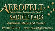 Aerofelt saddle pads