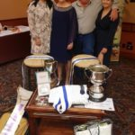 The Dodwell family with the spoils of victory from the 2018 SCA presentations.