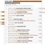 2018 Warwick Stallion draft Final Results