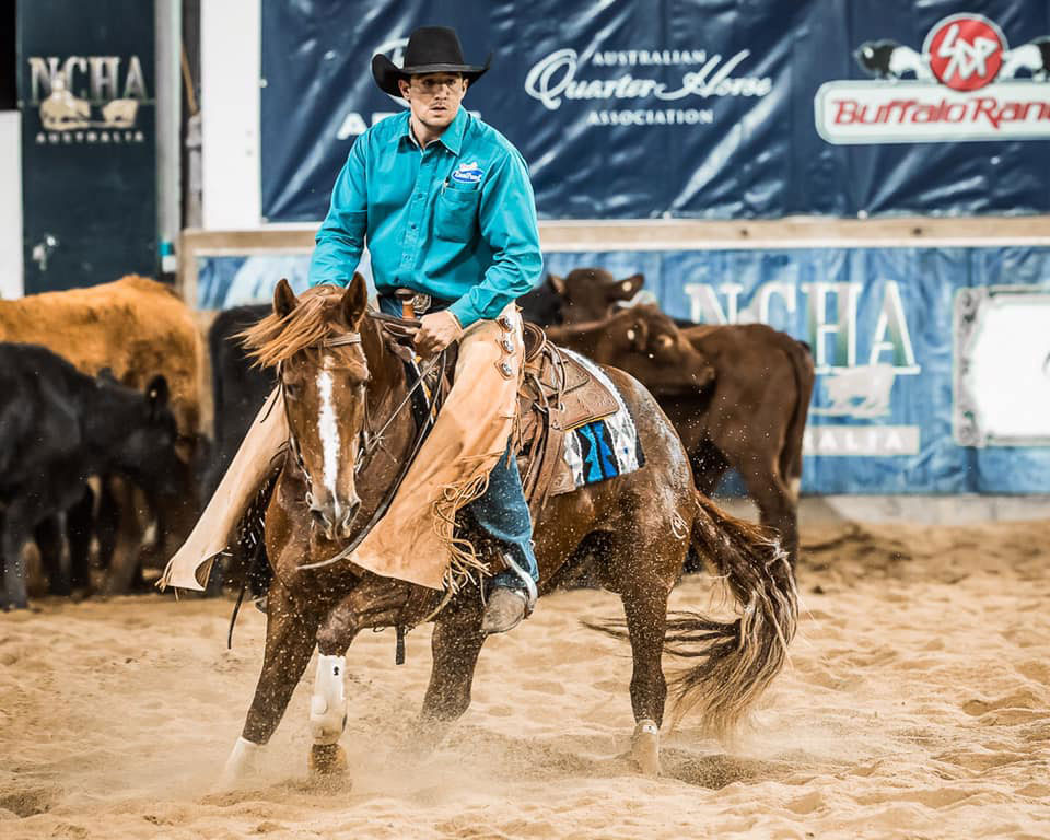 Matt Moffat & JMD Fascinator, 2019 NCHA Open Snafflebit Futurity Champions.