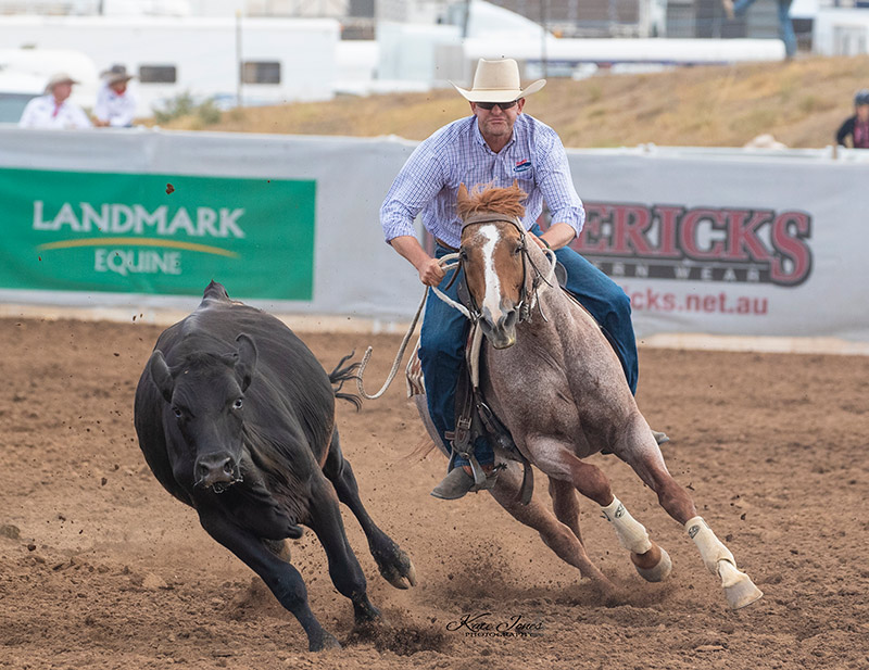 Peppy Boontown & Phil Dawson. 2019 Landmark Stallion Shootout.